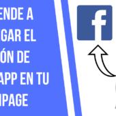 Cómo insertar un Link de Whatsapp en Facebook [Configurar Botón]